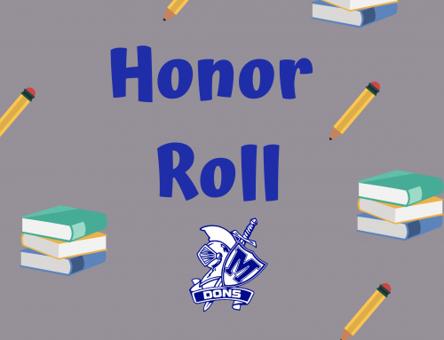 Madonna Honor Roll 2020-2021 1st Nine Weeks