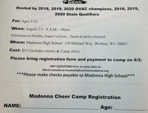 Madonna Cheer Camp