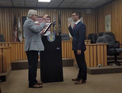 Serafine '18 Sworn in as Probationary Firefighter